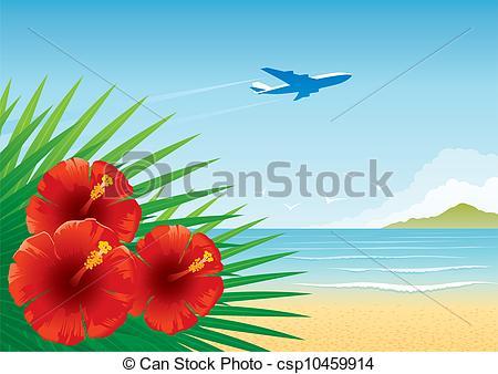 Seascape clipart hawaiian beach #4