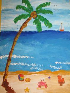 Seascape clipart kid beach party #3