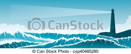 Seascape clipart mountain sea #1