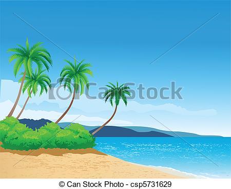 Seascape clipart pantai #5