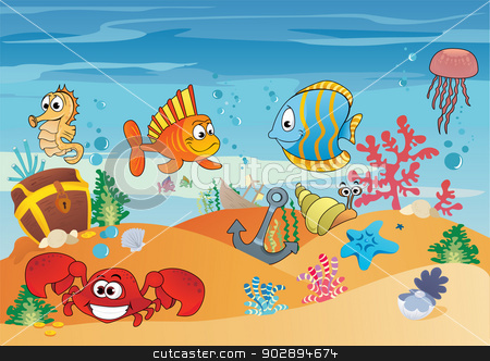 Seascape clipart underwater #4