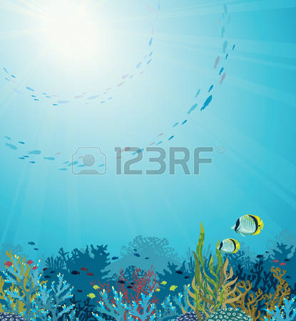 Seascape clipart underwater #5