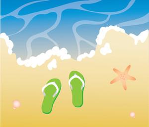 Seashore clipart Sandals beach (69+) Clipart ocean