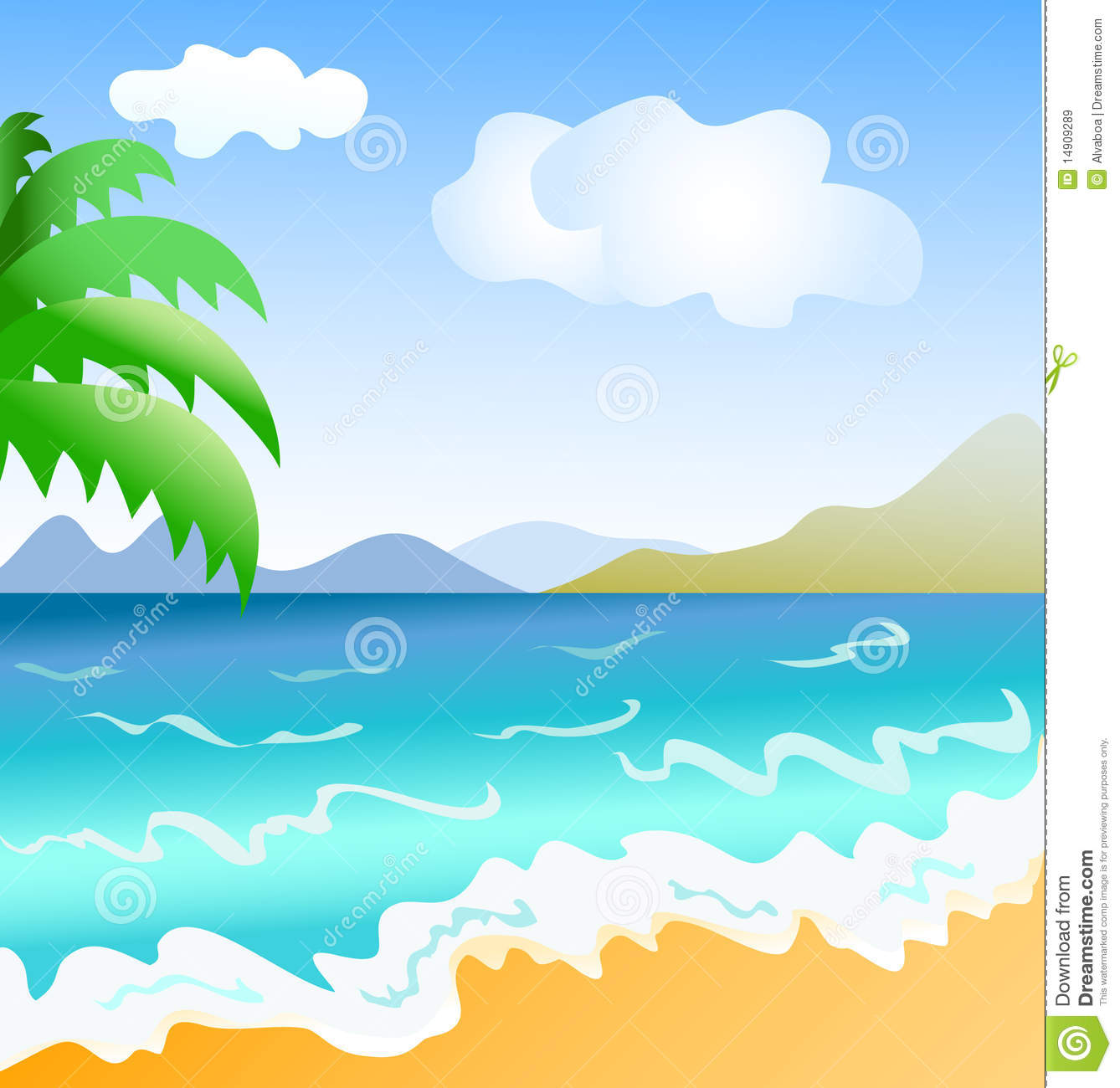 Seaside clipart seashore #3