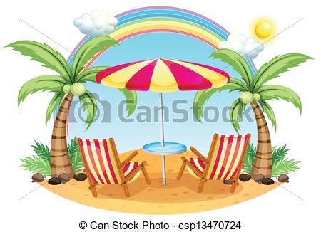 Seashore clipart summer scenery #7