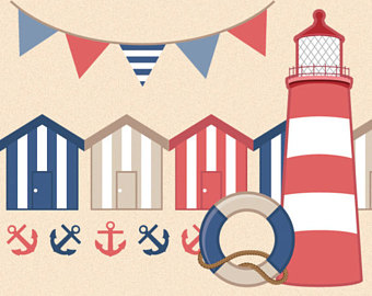 Lighthouse clipart seaside Clipart nautical Clipart Clipart