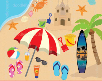 Seaside clipart Summer clipart Seaside Summer Seaside