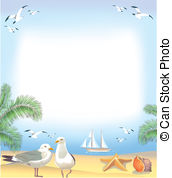 Seaside clipart beach frame #10