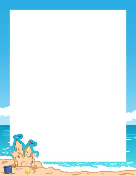 Seaside clipart beach frame #1