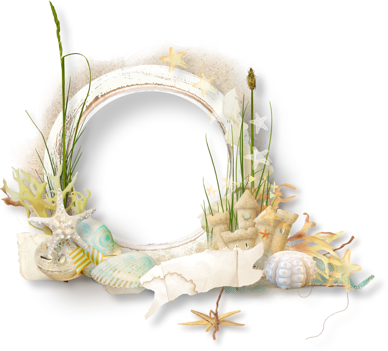 Seaside clipart beach frame #7
