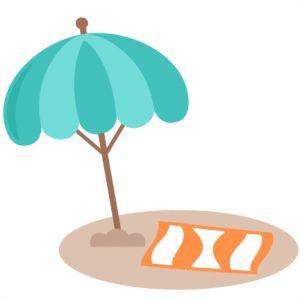 Beach clipart cute beach UmbrellaSvg on Fun~ 173 ClipartSilhouette