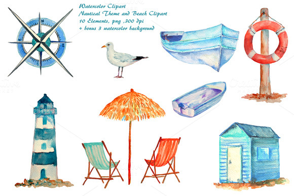 Seaside clipart beach item #12