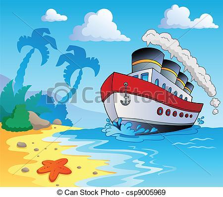 Seashore clipart summer scenery #4