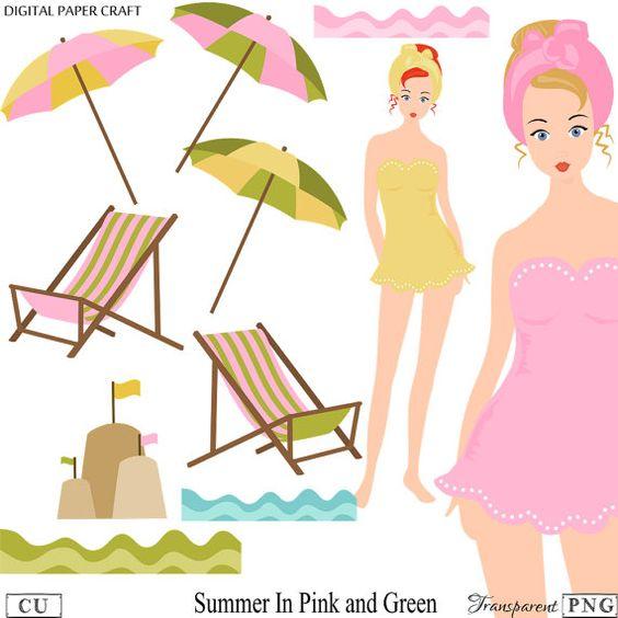 Seaside clipart beach swimming #3