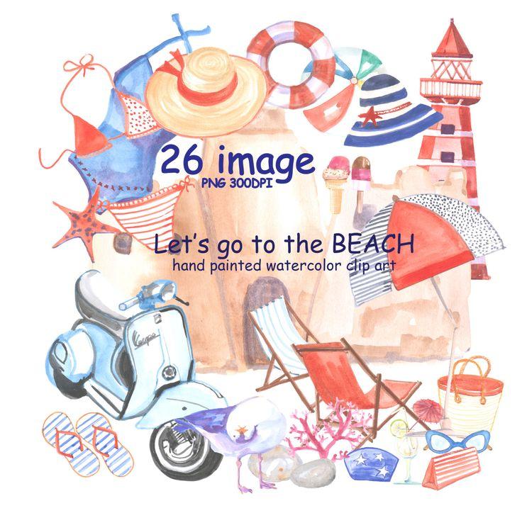 Seaside clipart beach swimming #13
