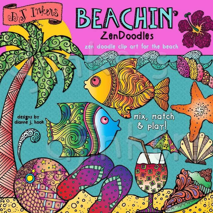 Seaside clipart beach swimming #12