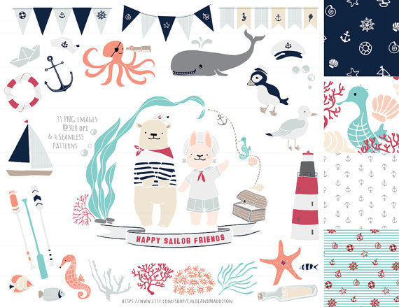 Seaside clipart nautica #12