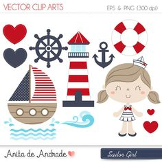 Seaside clipart nautica #9