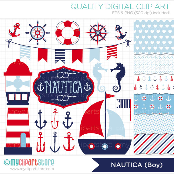 Seaside clipart nautica #4