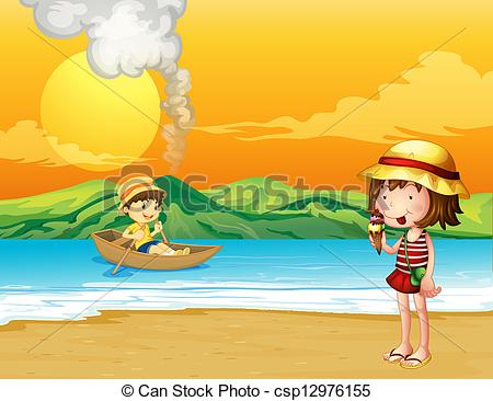 Seaside clipart seashore #5