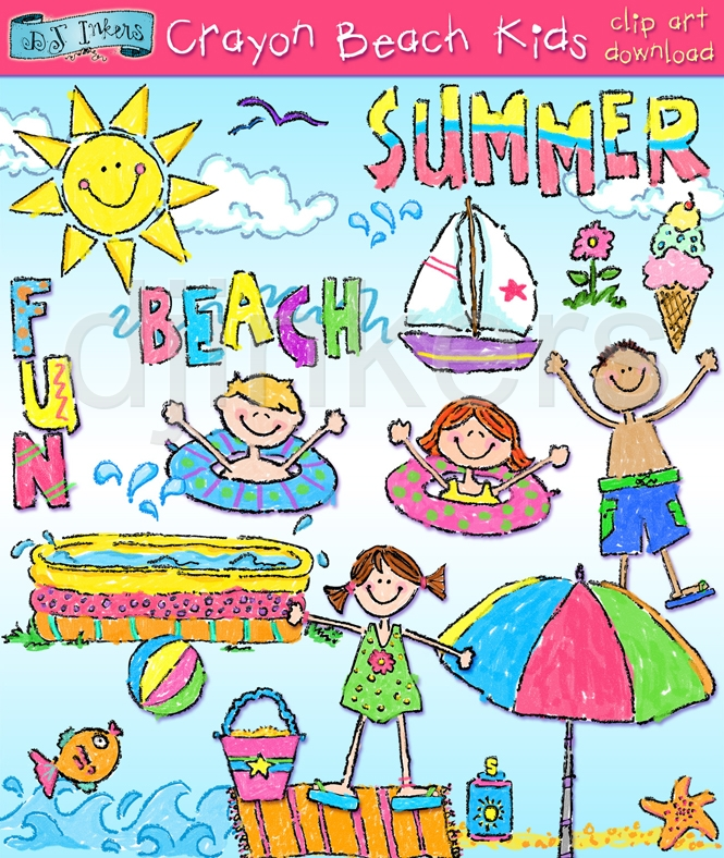Crayon clipart childern By Clipart Free Summer Free
