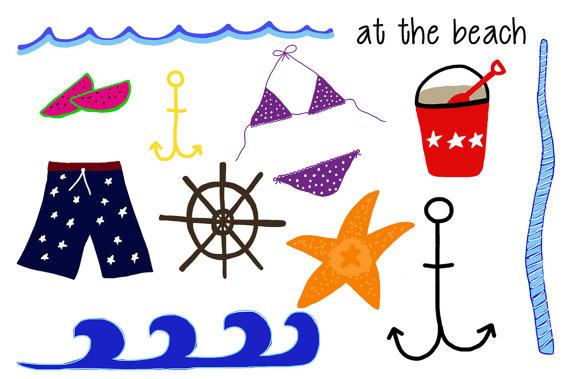 Seaside clipart themed #9