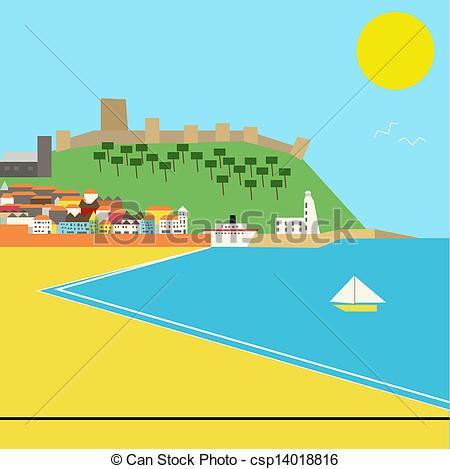 Scenery clipart seaside #11