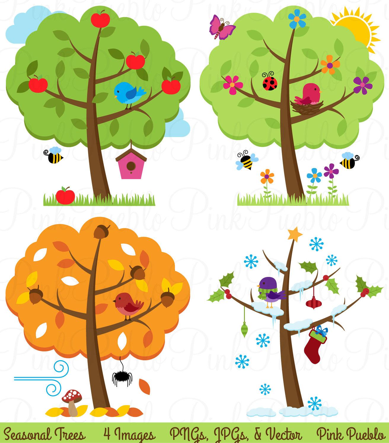 Season clipart Seasons Free  and Kids;
