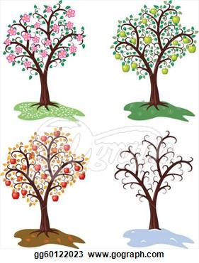 Season clipart apple tree #8