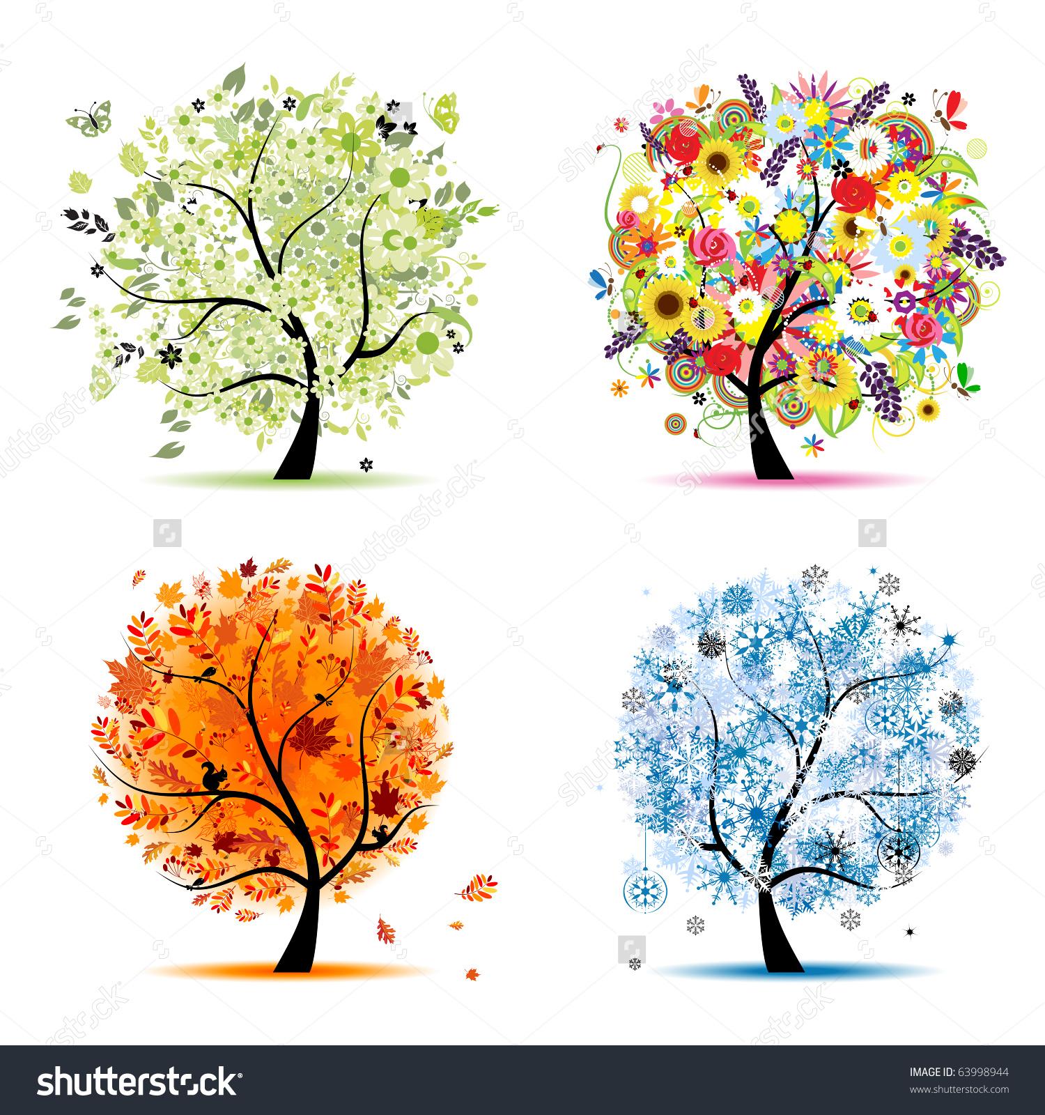 Season clipart autumn winter #9