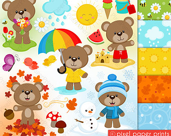 Season clipart seasonal #15