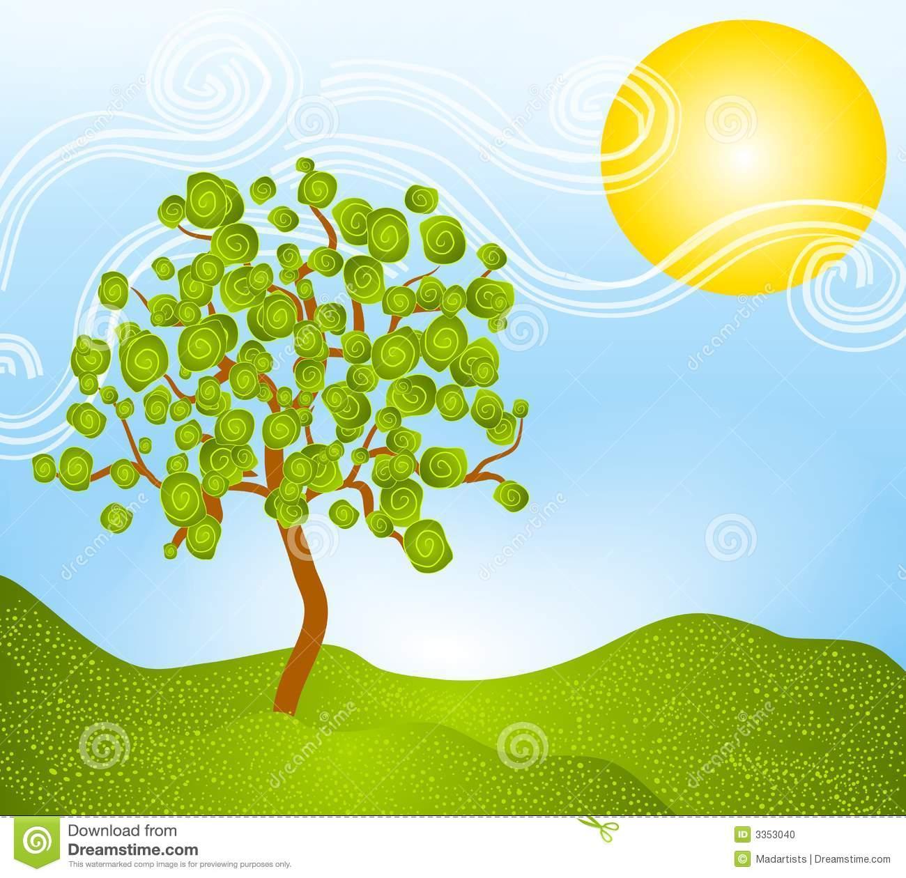 Season clipart summer tree #11