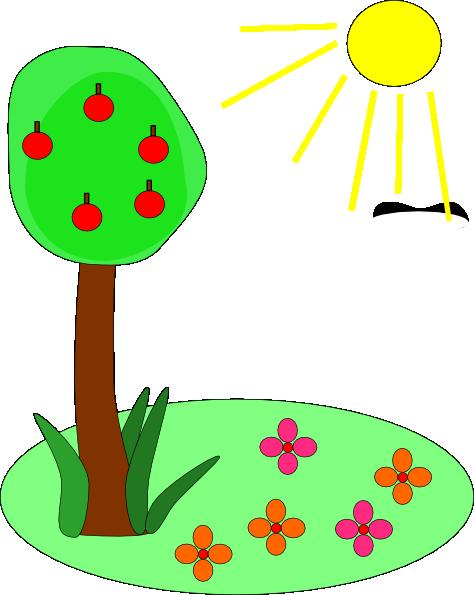 Season clipart summer tree #13