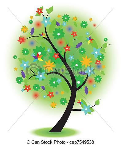 Season clipart summer tree #15