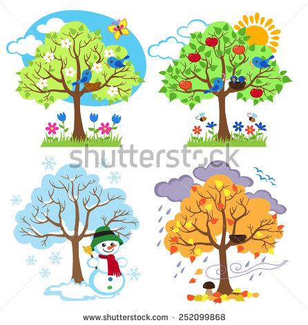 Season clipart summer tree #12