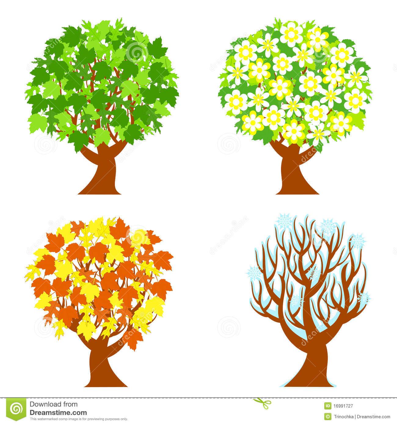 Season clipart summer tree #14