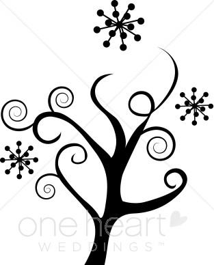 Winter clipart winter tree Winter Clip Sketches Winter Flower