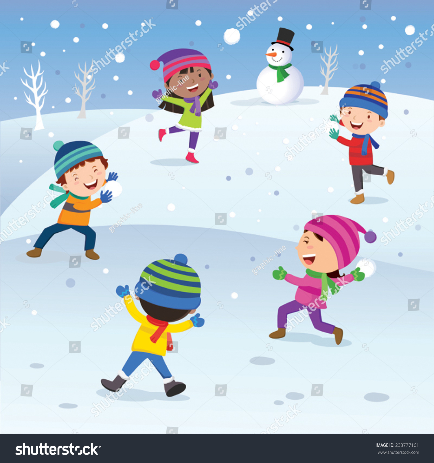 Winter clipart fun kid To collection Children out the