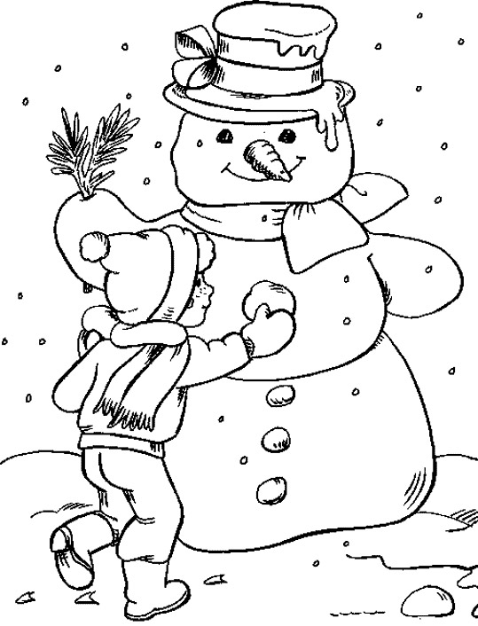 Winter clipart calendar To Pages Color  Coloring
