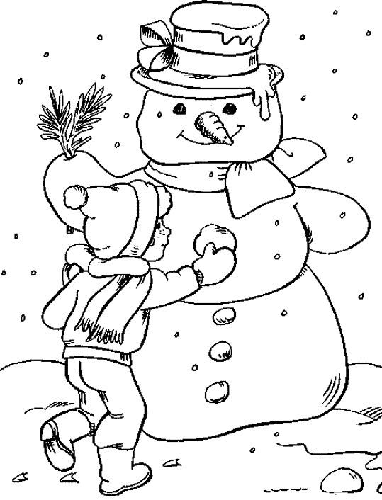 Winter clipart calendar To Color Coloring Winter Fun