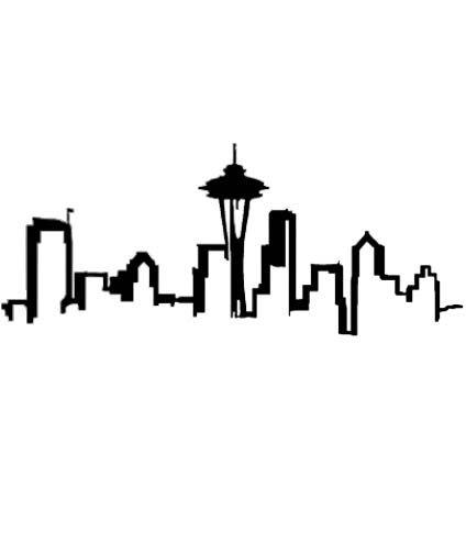 Drawn skyline silhouette Pinterest Seattle on 20+ Best