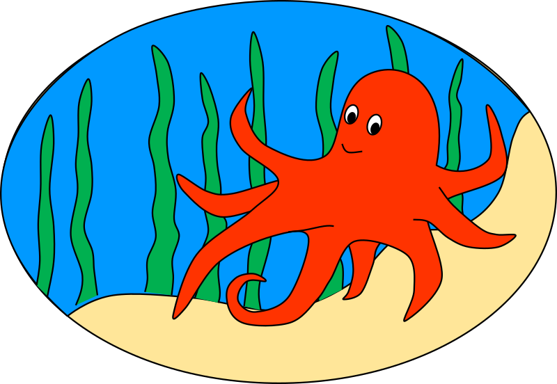 Seaweed clipart cartoon #10