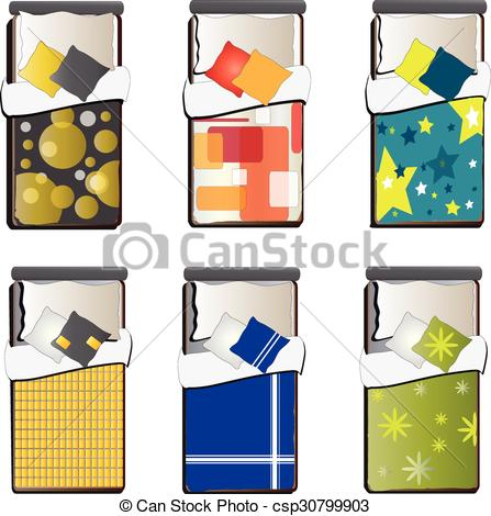 See clipart bed top Interior 5 set Single Single