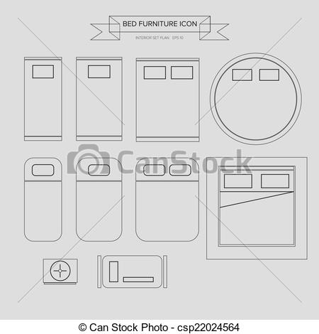 See clipart bed top Clip View Bed Furniture
