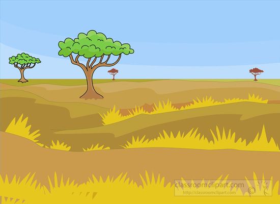 Savannah clipart african savanna #1