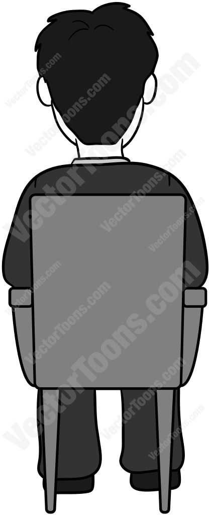 Dark Hair clipart cartoon #7