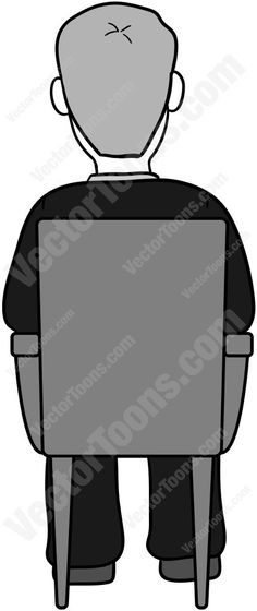 Dark Hair clipart suit In Sitting View A Back