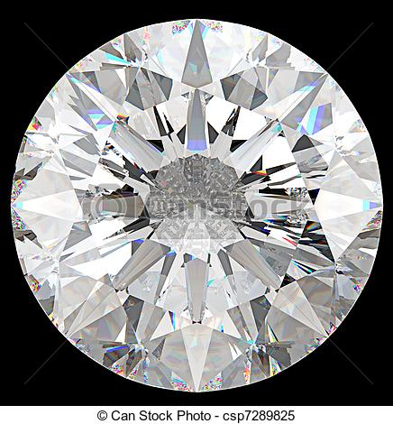 See clipart diamond top Round diamond Gemstone: isolated csp7289825