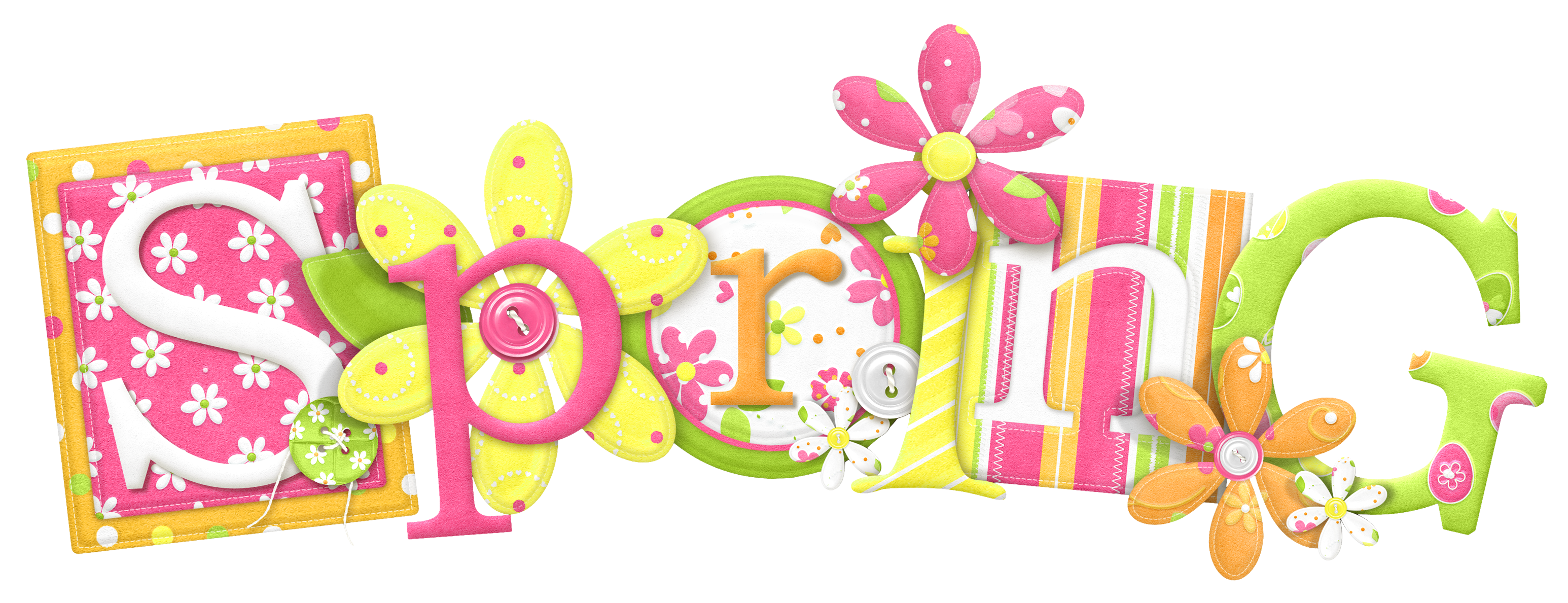 Text clipart spring Download on  Free Spring