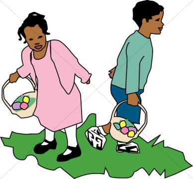 See clipart easter egg hunt #7